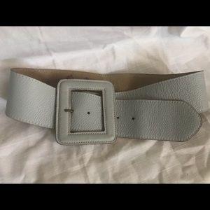 Ginger & Smart Leather Belt Rectangle Light Blue